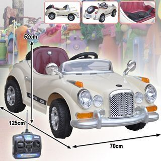 Beige Single Seat Roadster Electric Ride on Car with remote control, currently AU$145.95 plus shipping from soldsmart.com.au #kidsrideontoy #electriccar #kidsroadster