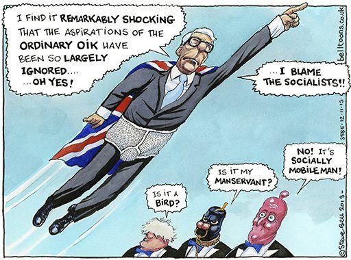 Steve Bell on John Major's intervention on Tory social policy – cartoon