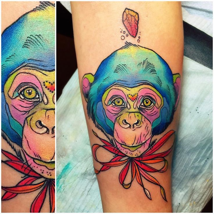 ...and her baby chimp! eternalink hushanesthetic