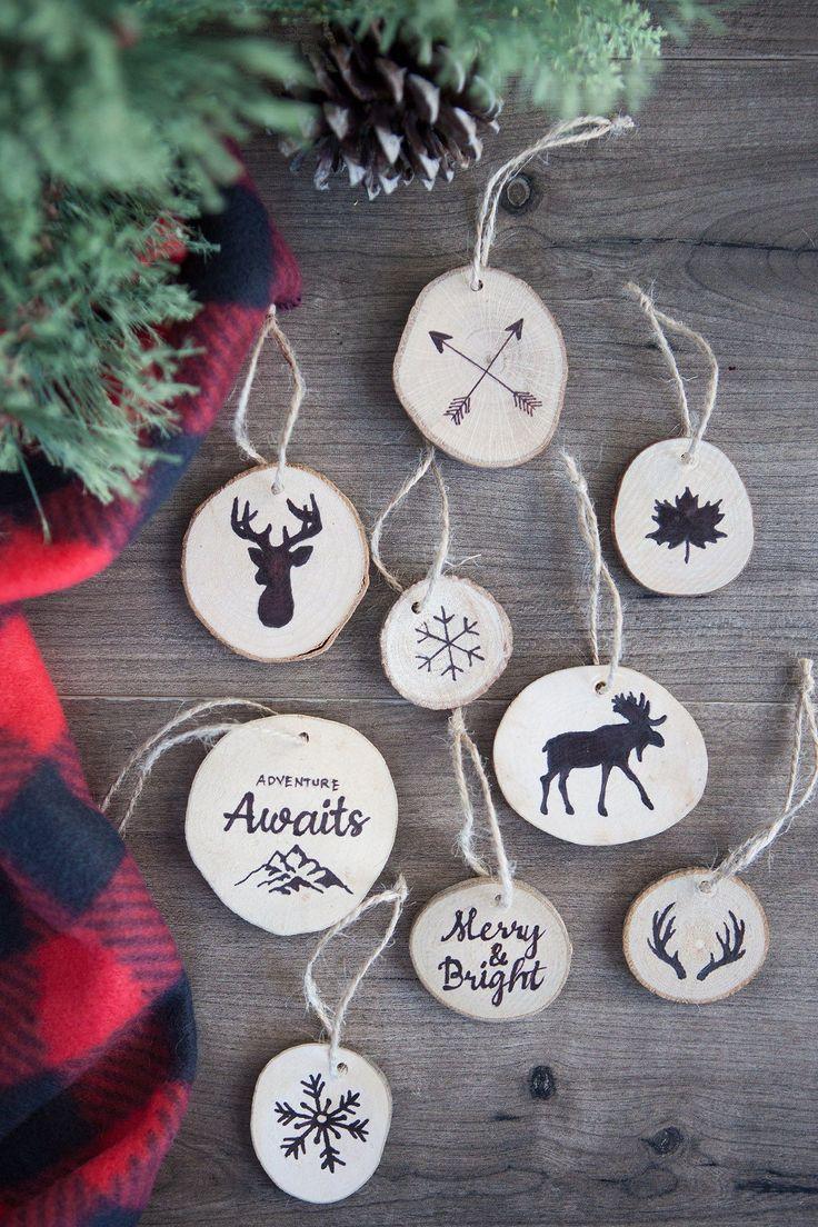 Farmhouse Style Ornaments For Christmas Christmas Ballschristmas Tree  Ornamentsdiy