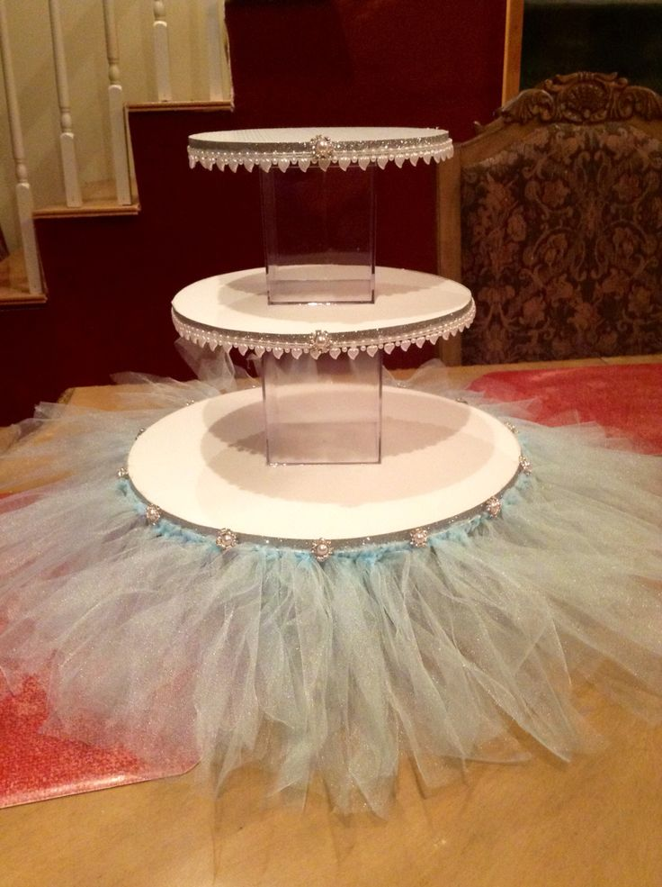 Diy Frozen Or Cinderella Cake And Cupcake Stand My Cakes