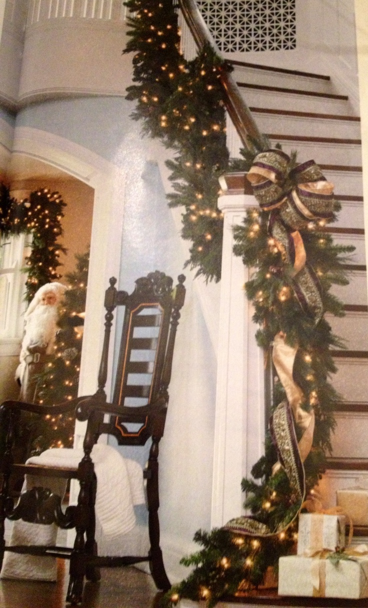 Christmas staircase idea via Frontgate 156 best