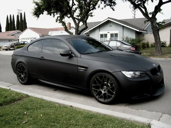 Matte Black BMW M3 - Click image to find more hot Pinterest pins