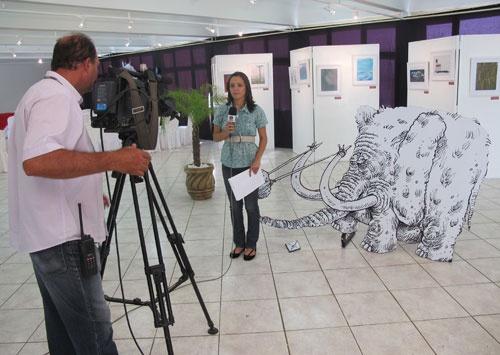 my cartoon (exhibition in montes Claros-Brazil)