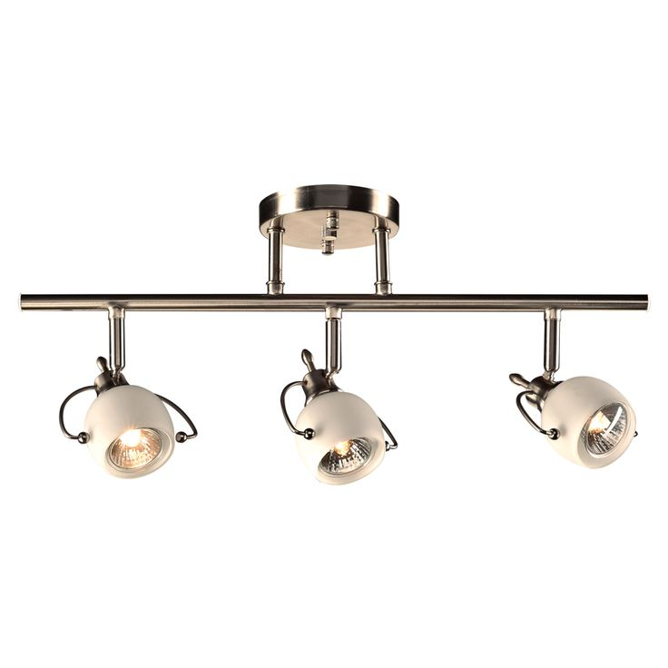 $30.00 - PLC 3 Light Ceiling/Wall Light Focus Collection 5353 SN The Focus sconce with satin nickel finish complimented by a matte opal glass is reminiscent of an industrial design and will suit an eclectic or contemporary décor. This unique wall sconce measures 5 high by 20.5 wide with a 8.5
