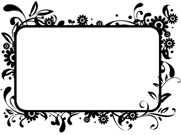 Flowers Clip Art Black And White Border Home Redesign Arts Frame