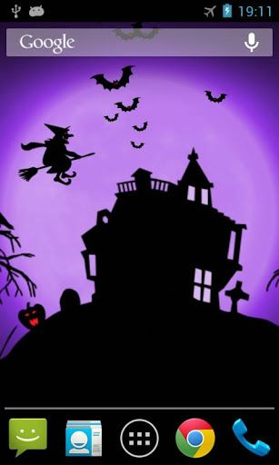 Halloween Night live wallpaper with scary fun background and flying bats/witch!<br> <br>If you like this wallpaper, you might like to try our Ghost and Pumpkin versions too!<p>To use: Home -> Menu -> Wallpapers -> Live Wallpapers<br> <br>To develop more free great live wallpapers, we have implemented some ads in settings.<br>Advertisement can support our develop more free great live wallpapers.<p>This live wallpaper has been tested on latest devices such as Samsung Galaxy S4, Nexus 7, HTC…