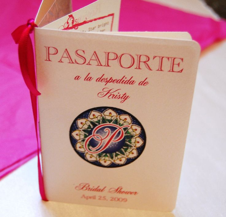 wedding shower invite sample%0A New to anaderoux on Etsy  Sample Passport Wedding Invitation  Talavera        USD