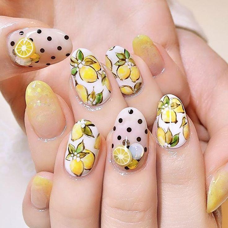 トロピカルで可愛い♡暑い夏にフレッシュなフルーツネイルはいかが? | GIRLY