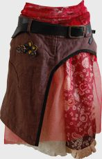 Ensemble Pagne + Jupon   upcycled jeans...