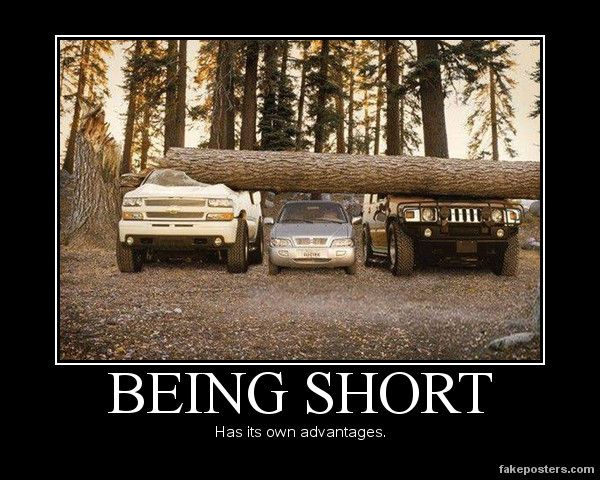"This is for those 5'4"" and taller people who make fun of us ""vertically-challenged"" people!"