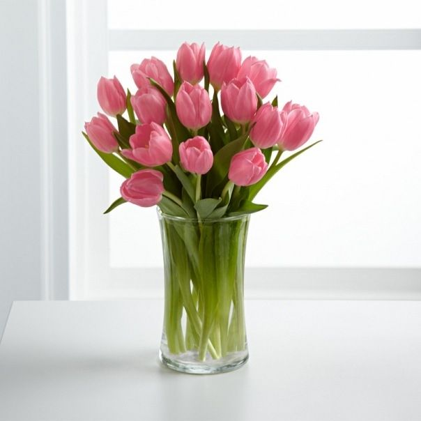 букеты розовых тюльпанов фото было всё
