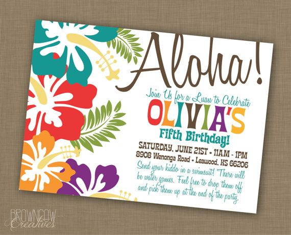 PRINTABLE Luau Party Decoration Kit by BrownCowCreatives on Etsy