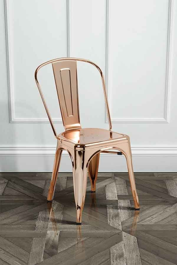 french cafe wood chairs. set of 2 copper finish tolix style vintage french cafe chairs wood