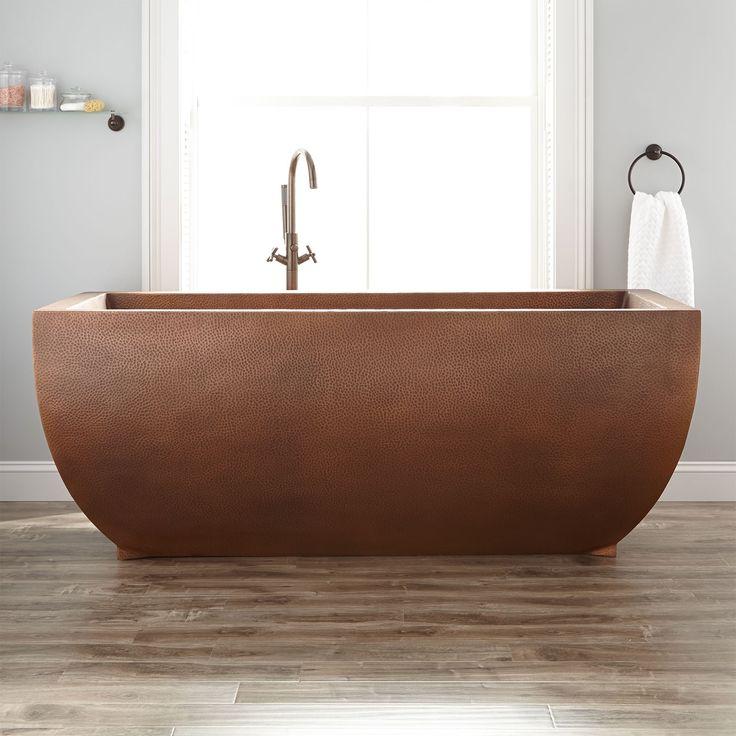 "72"" Fabian Hammered Copper Freestanding Tub"