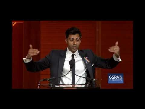 Daily Show's Hasan Minhaj proceeded to deliver a four-minute speech about our need, all of us, to recognize our complicity in the discrimination and bigotry.