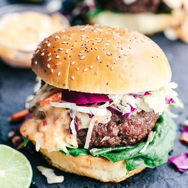 May is National Burger Month and these Asian Barbecue Burgershellip