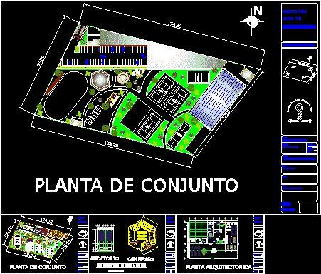 Plano club deportivo en dwg bibliocad club deportivo - Proyecto club deportivo ...