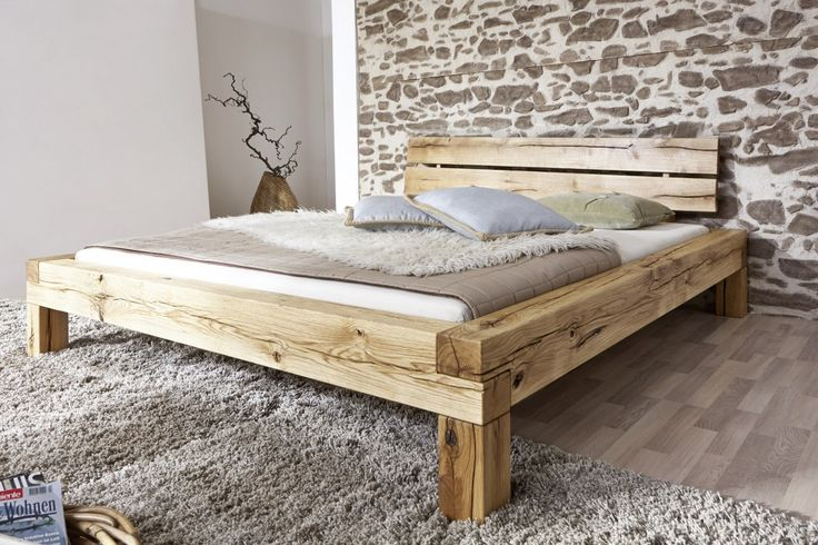 SAM® Balkenbett Elias Massiv Holzbett 160 x 200 cm Auf Lager !