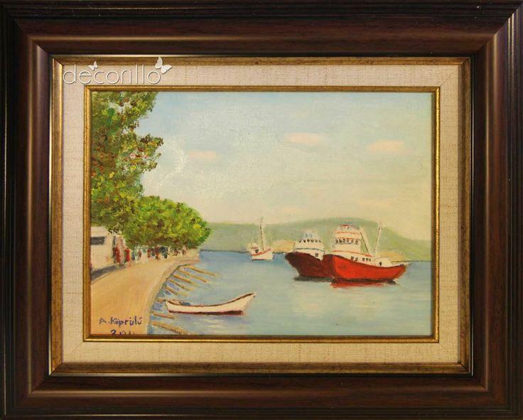 Sarıyer'de Balıkçı Tekneleri - Ayhan Köprülü - Decorillo | Elit Zevklerin Buluştuğu Adres | Sanat Eserleri