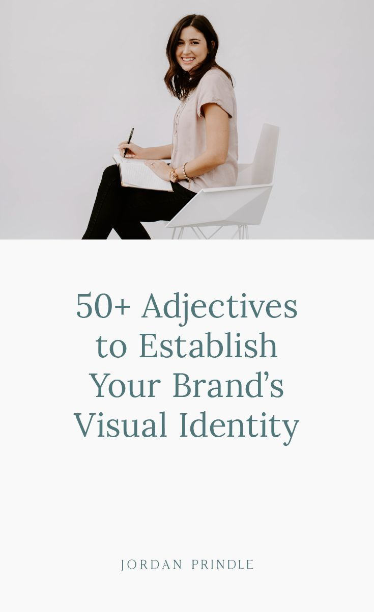 50 Adjectives To Establish Your Brand S Visual Identity Visual Identity Watercolor Branding Identity