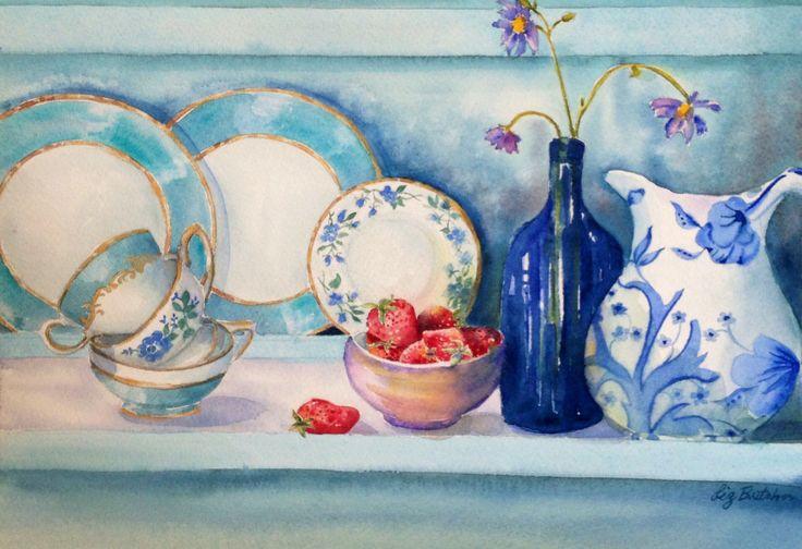 'Strawberries and Tea' by Liz Butcher