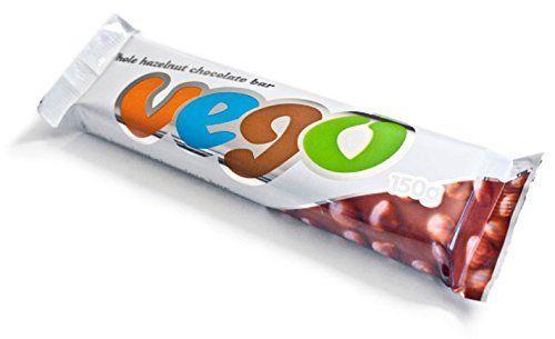Vego Whole Hazelnut Chocolate Bar 150g (Pack of 2)