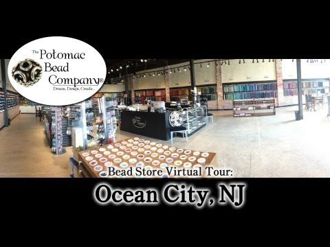 Bead Store Virtual Tour - Ocean City New Jersey - YouTube free YouTube tutorial from The Potomac Bead Company. http://www.potomacbeads.com