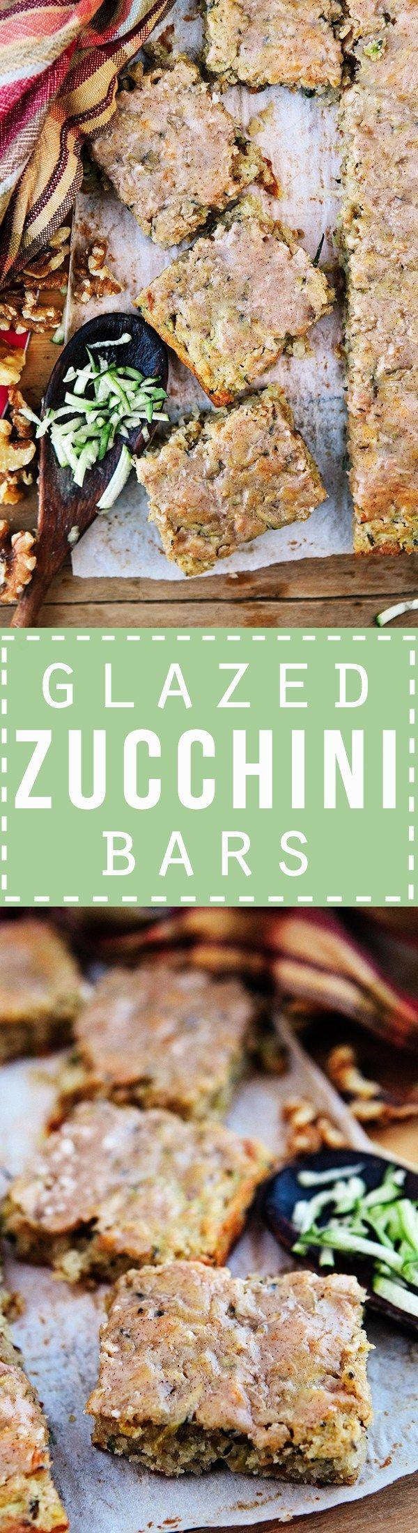 Zucchini Bars with Cinnamon Glaze