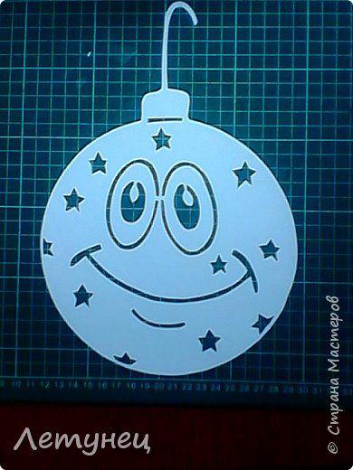 Картина панно рисунок Новый год Вырезание Продолжение Бумага фото 1