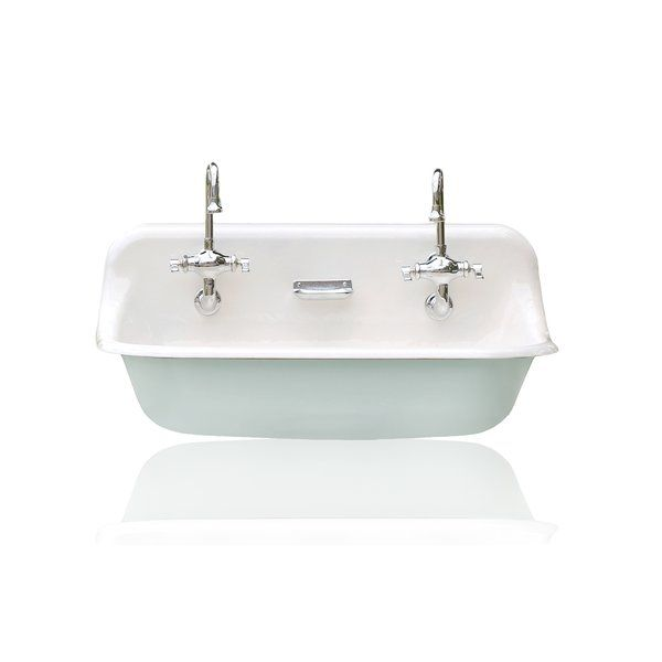 High Back 36 Antique Inspired Kohler Farm Sink Incarnadine Red Cast Iron Porcelain T Drop In Bathroom Sinks Porcelain Bathroom Sink Kohler Farm Sink