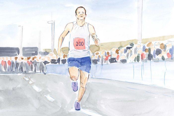 Marathon finish.