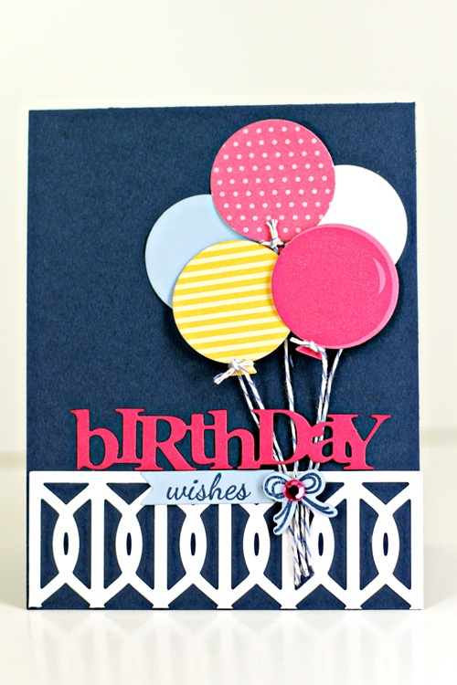 Birthday Wishes Balloons Card by Erin Lincoln for Papertrey Ink (March 2013)