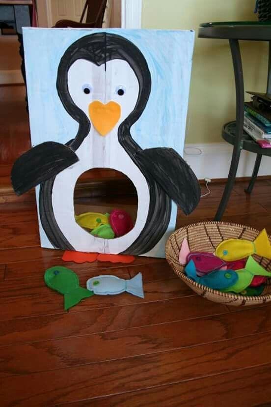 Pingüino hambriento