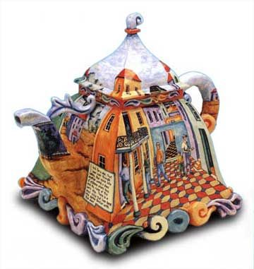 """by anne kraus """"I look for a door"""" kamm collection... love this teapot"""