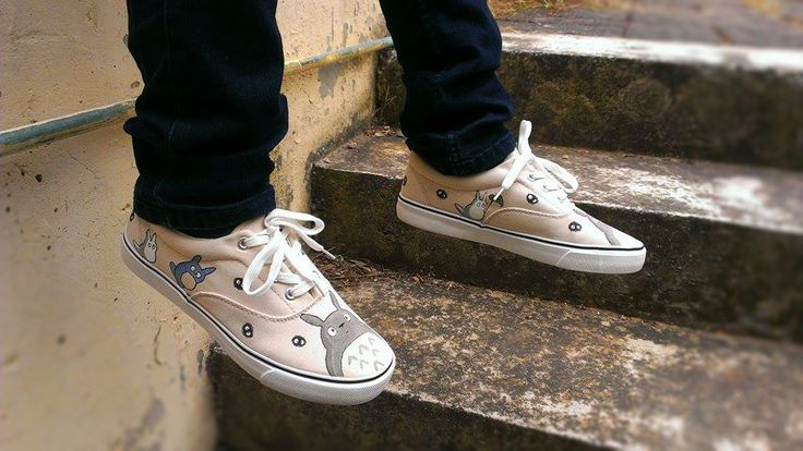 Hand painted totoro shoes! Please check my etsy shop!! https://www.etsy.com/shop/MirandaKou?ref=hdr_shop_menu