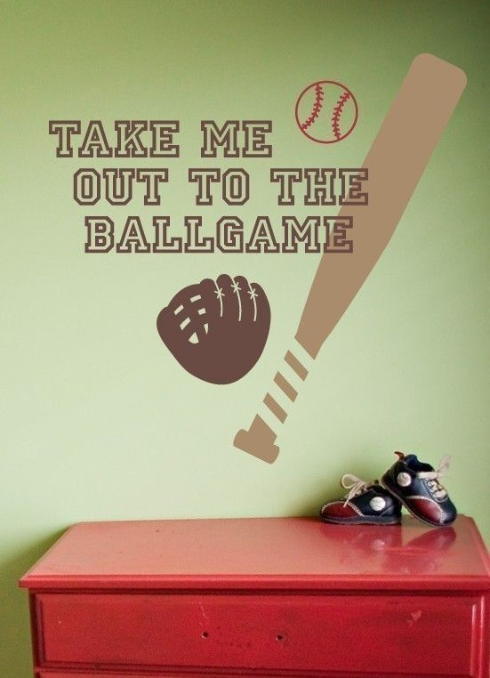 Items Similar To Sports Wall Decal, Baseball Decal Set, Boy Bedroom Decor,  Baseball Wall Art On Etsy