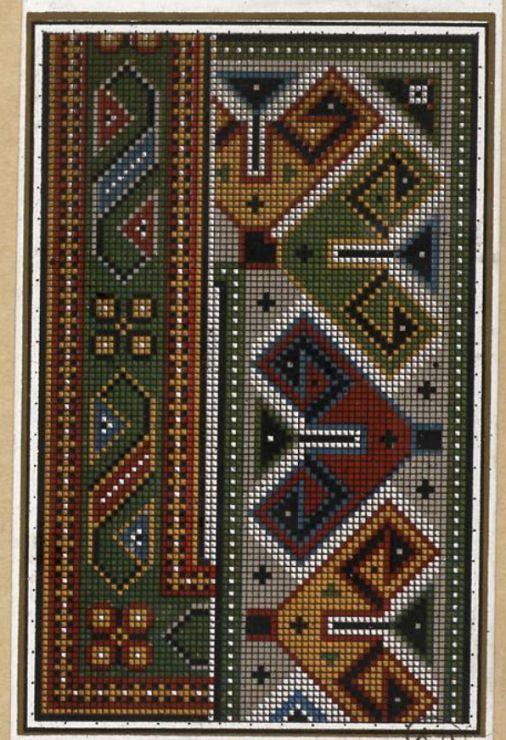 Gallery.ru / Фото #5 - старинные ковры и схемы для вышивки - SvetlanN