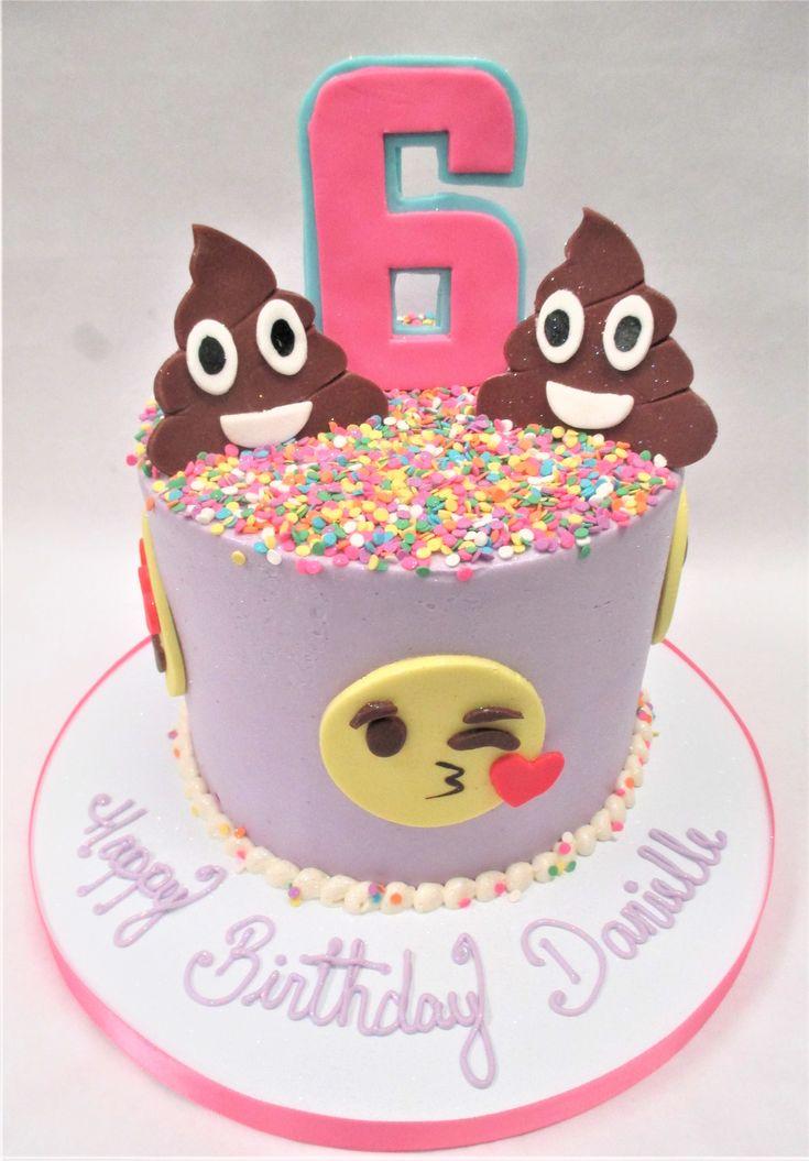 Colorful emoji birthday cake by Flavor Cupcakery