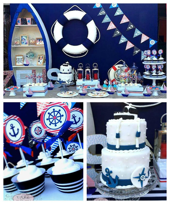 year birthday invitatiowordingiindiastyle%0A Nautical Themed First Birthday Party