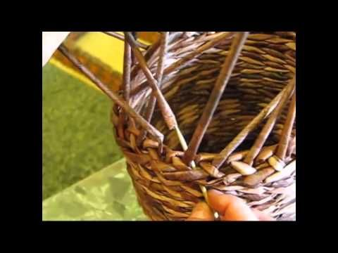 Newspaper basket. How to make the edging. Part 6. - YouTube