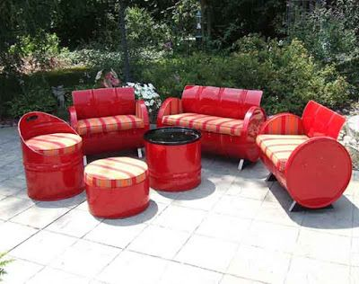 8 best desain sofa unik dari drum bekas tampak mewah dan minimalis images on pinterest