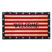 Found it at Wayfair - Patriotic Welcome Coir Mat