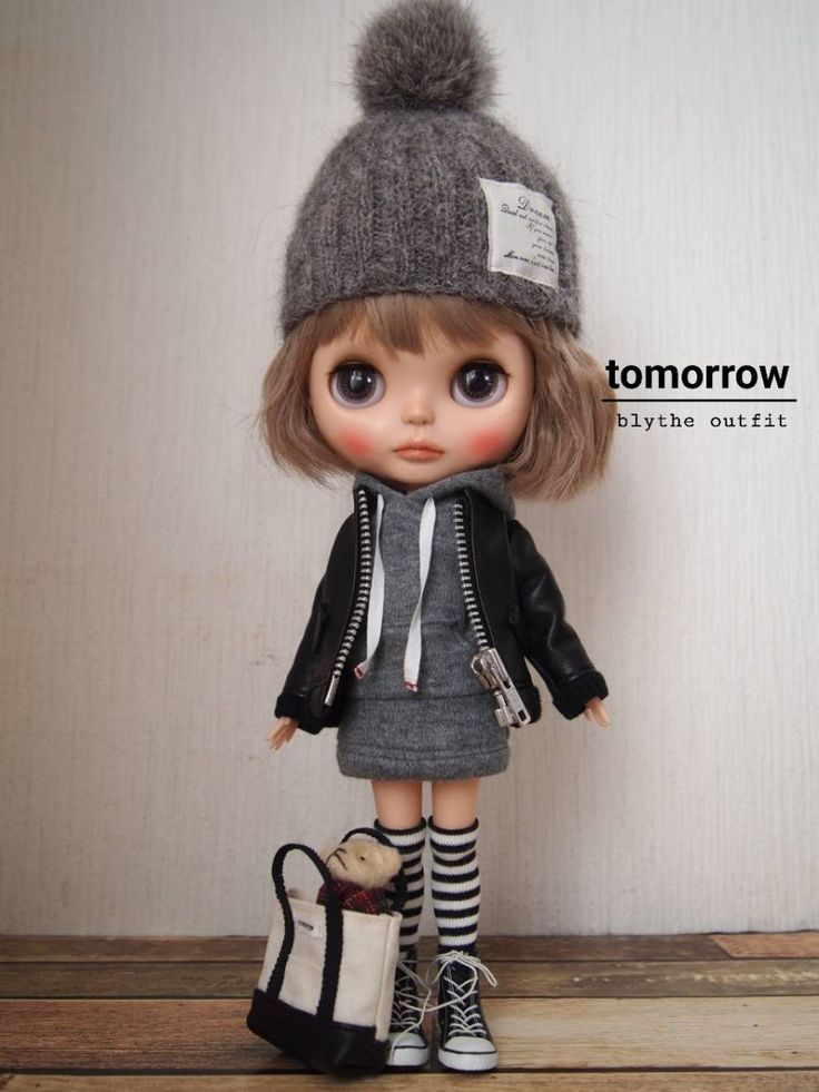 ◆tomorrow◆Blythe outfit ブライスアウトフィット◆本革ジャケット10点セット◆_画像9