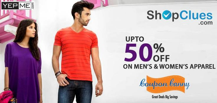 #Yepme Fashion Store: Upto 50% Off on Men's and Women's Apparel at #Shopclues! Claim Now : http://www.couponcanny.in/shopclues-coupons/