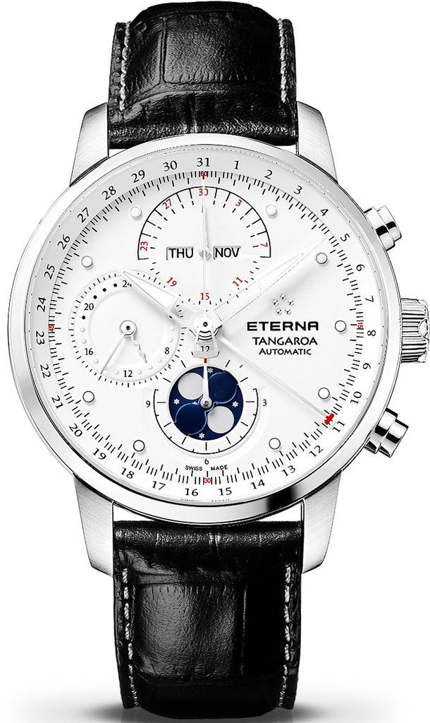 Eterna Watch Tangaroa #bezel-fixed #bracelet-strap-leather #brand-eterna #case-depth-14mm #case-material-steel #case-width-42mm #chronograph-yes #date-yes #day-yes #delivery-timescale-call-us #dial-colour-white #gender-mens #luxury #moon-phase-yes #movement-automatic #official-stockist-for-eterna-watches #packaging-eterna-watch-packaging #perpetual-calendar-yes #style-dress #subcat-tangaroa #supplier-model-no-2949-41-66-1261 #warranty-eterna-official-2-year-guarantee #water-resistant-50m