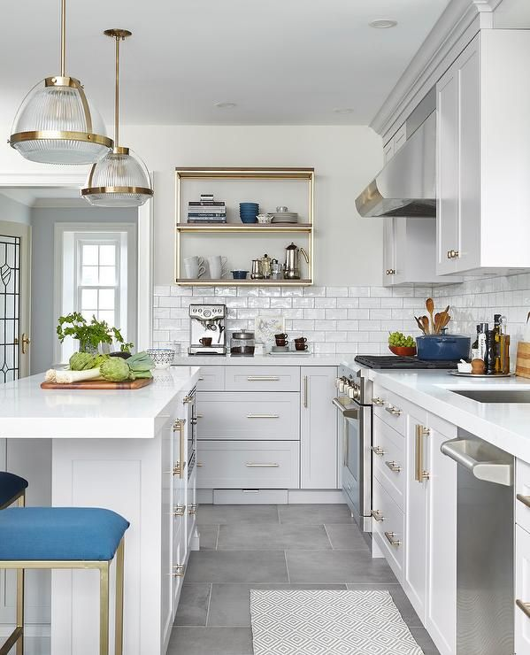 Kitchen Island Accent Color: Best 25+ Blue Grey Kitchens Ideas On Pinterest