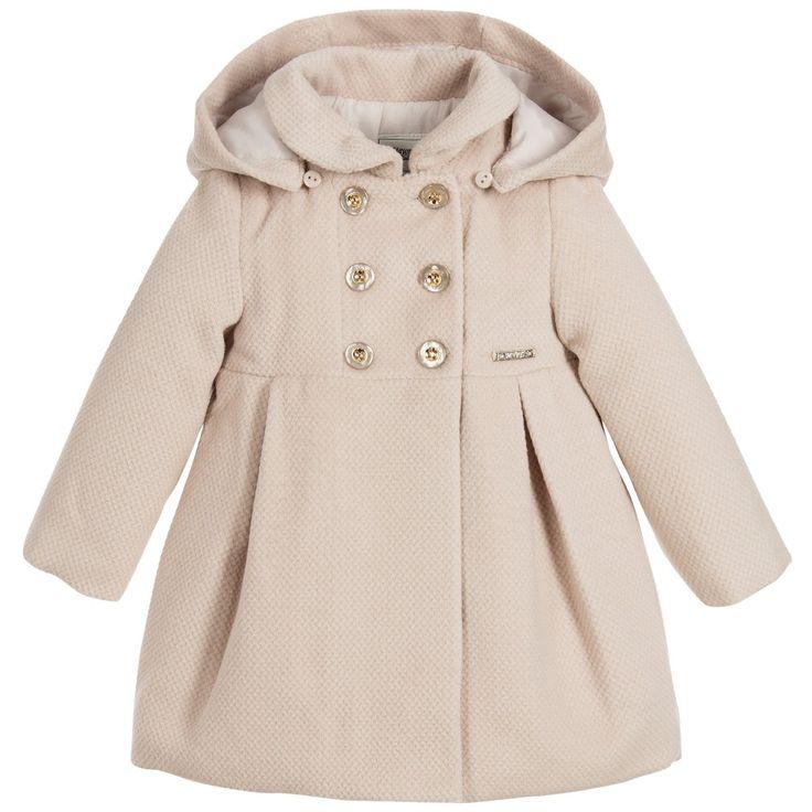 Mayoral - Baby Girls Beige Padded Coat Childrensalon