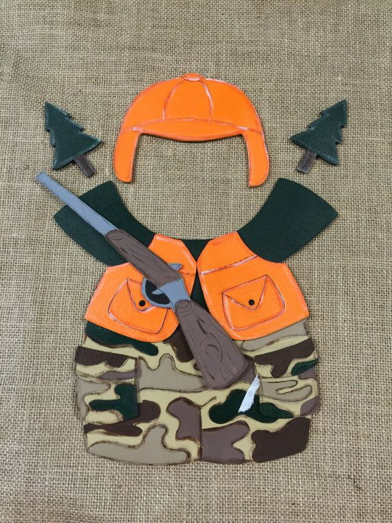 Hunting Outfit Interchangeable Wood Outfit by DebsCrafts22 on Etsy