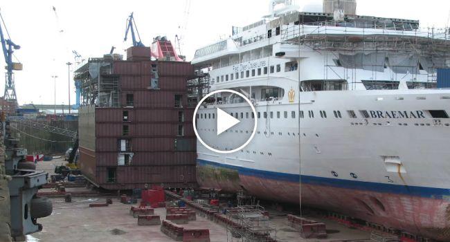Incrível Time Lapse Mostra Todo o Processo De Aumento Da Lotação De Um Navio Cruzeiro